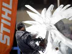 "The festival of snow-ice sculptures ""Snegoled"""