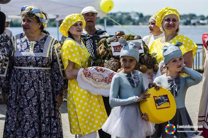 На гастрономическом фестивале в Костроме  было изобилие сыра